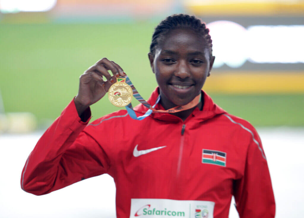 Gold for Kenya in the 3000m finals courtesy of Teresiah Muthoni Gateri.
